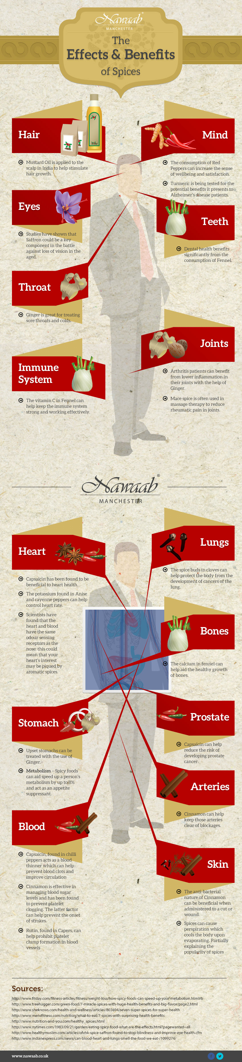 Benefits of Spices infographic