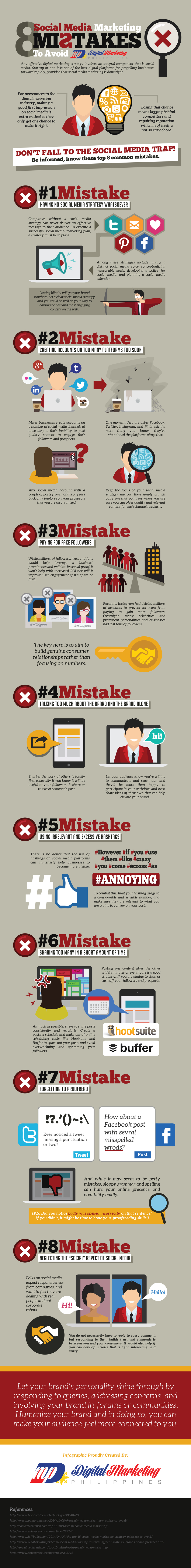 social media marketing mistake